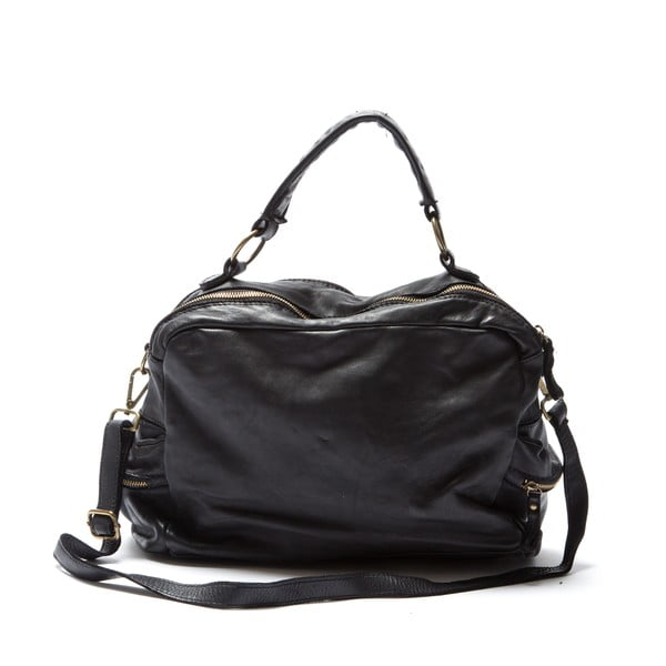 Kožená kabelka Mangotti 0004, čierna