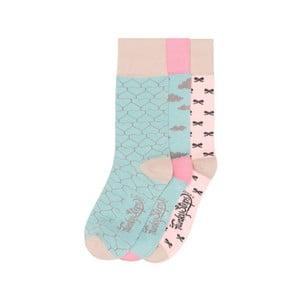 Sada 3 párov farebných ponožiek Funky Steps Geometria, veľ. 35-39