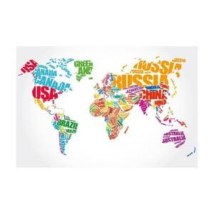 Obraz Homemania Maps Europe Pastel, 70×100 cm