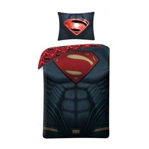 Čierne bavlnené detské obliečky Halantex Superman, 140 x 200 cm