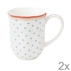 Porcelánový hrnček na kávu Seaside Dot od Lisbeth Dahl, 2 ks