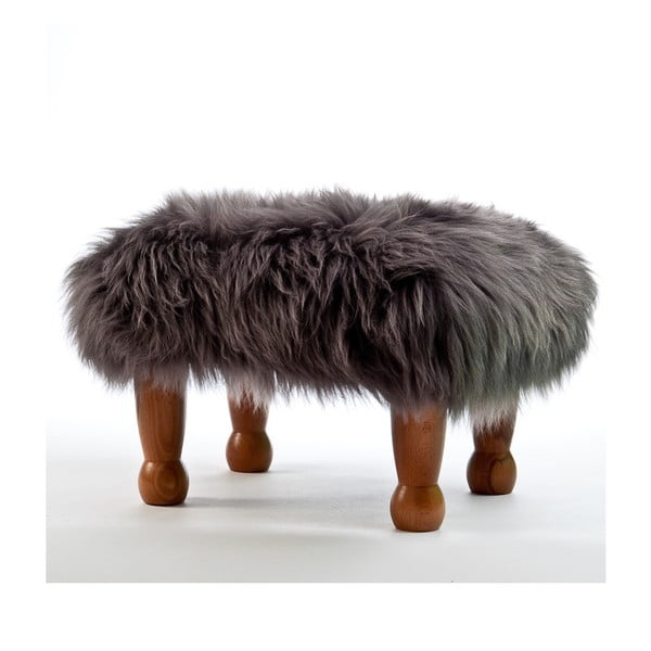 Stolička z ovčej kože Anwen Slate Grey
