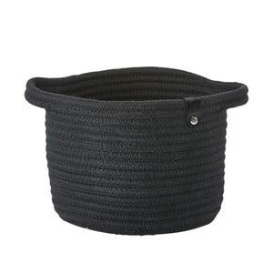 Čierny úložný košík Zone Roll, 14x18cm