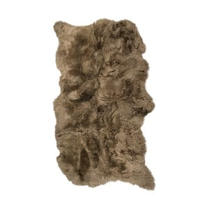 Hnedý kožušinový koberec s dlhým vlasom Janna, 180 x 120 cm