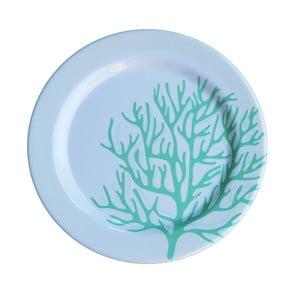 Sada 6 melamínových tanierov Sunvibes Corail Bleu, ⌀ 25 cm
