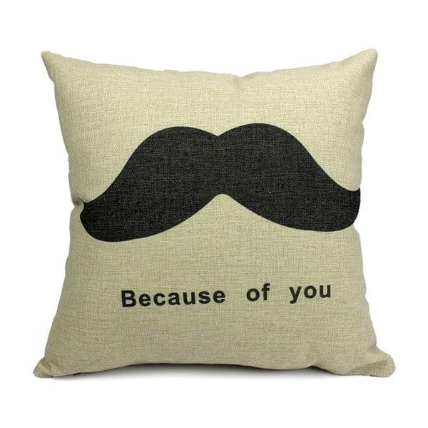 Vankúš Mustache, 45x45 cm