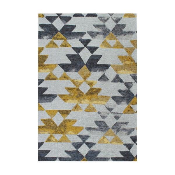 Koberec Tria Grey/Yellow, 160x230 cm
