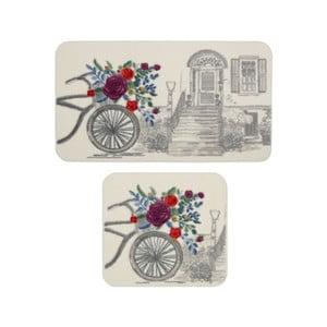 Sada 2 kúpeľňových predložiek Confetti Bathmats Rosa Basket Grey