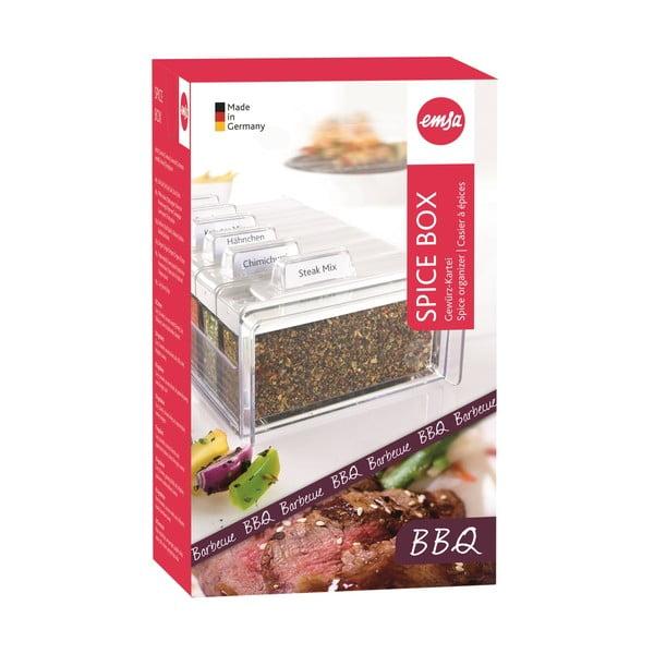 Box na korenie so 6 priehradkami Spice Box, na grilovanie