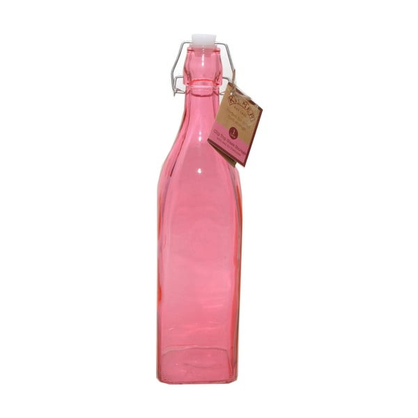 Fľaša s klipsom Kilner 1000 ml, ružová