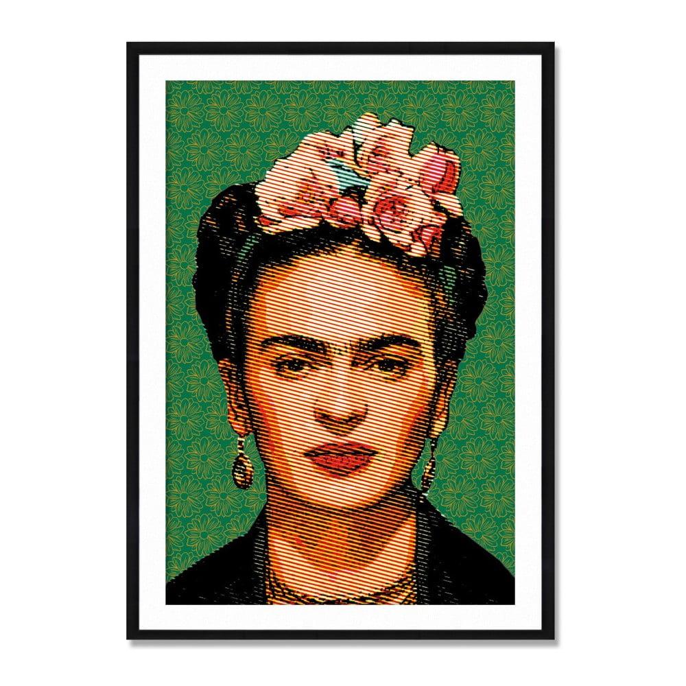 Nástenný obraz zo sambového dreva Madre Selva Frida Draw, 40 × 60 cm