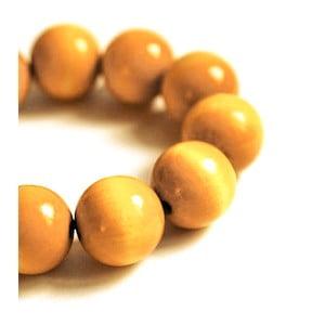 Žltý drevený náramok ko–ra–leBubbles