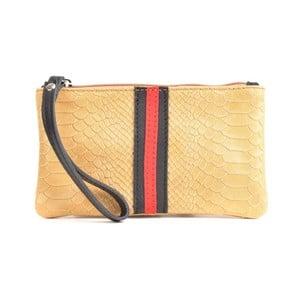 Koňakovohnedá kožená listová kabelka Mangotti Bags Studo