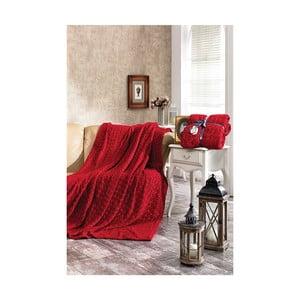 Červená deka Dolce Bonita Kalp, 220 × 180 cm