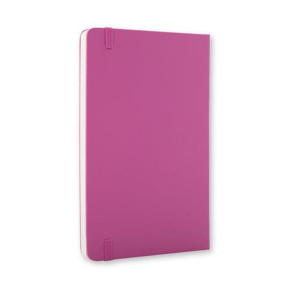 Malý ružový zápisník Moleskine Hard, bezlinajok