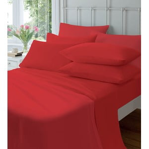 Elastická plachta Plain Flette Red, 90x190 cm