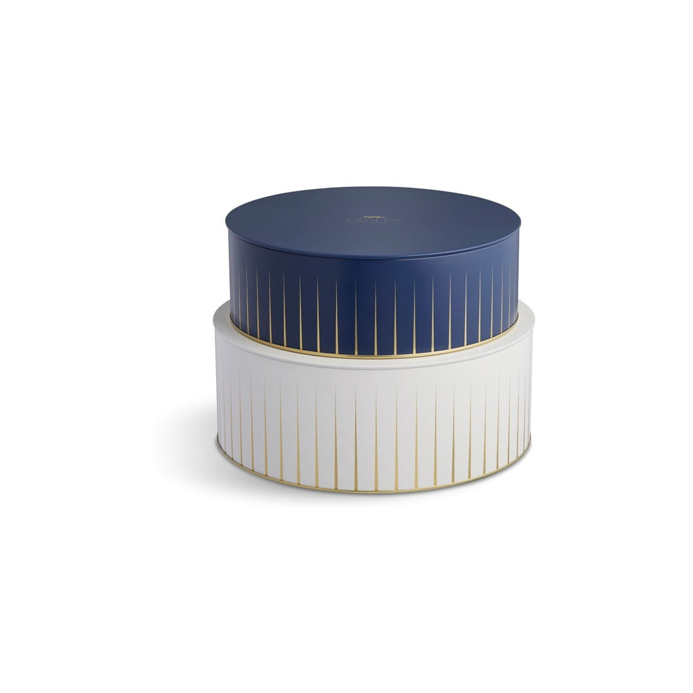 Sada modrého a bieleho úložného košíka Kähler Design Hammershoi
