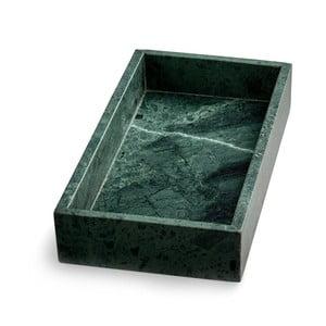 Zelený mramorový podnos NORDSTJERNE, 15 x 30 cm