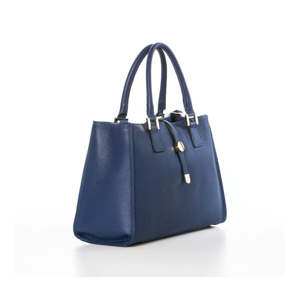 Modrá kožená kabelka Federica Bassi Dol