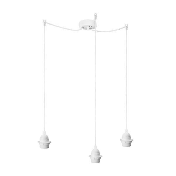 Biele závesné svietidlo s 3 káblami Bulb Attack Uno Primary