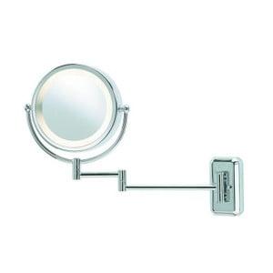 Strieborné zrkadlo s osvetlením Markslöjd Face