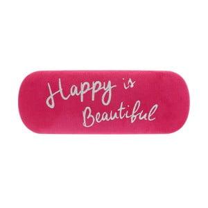 Ružové puzdro na okuliare Statement Pieces Happy is Beautiful, 17 x 6 cm