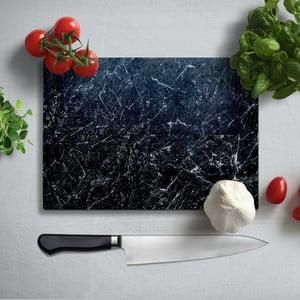 Čierna doska na krájanie z tvrdeného skla Insigne Misto, 35 × 25 cm