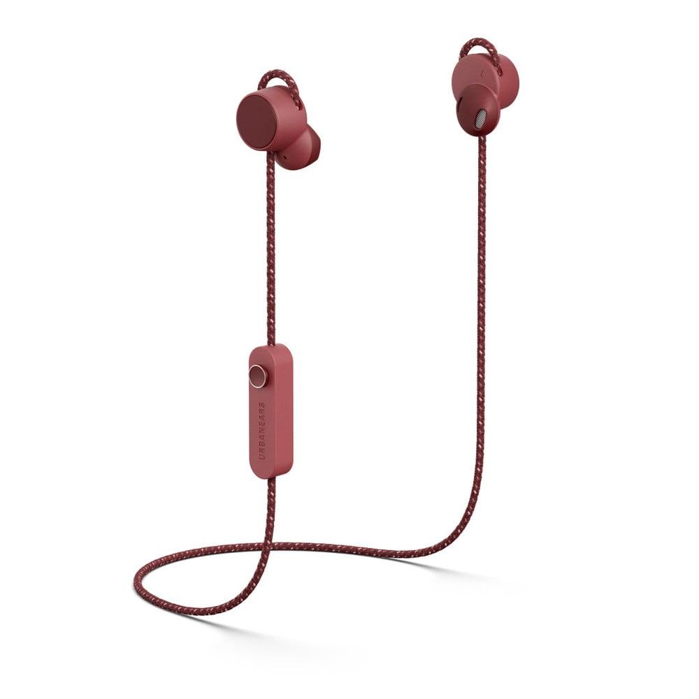 Červené bezdrôtové Bluetooth slúchadlá do uší Urbanears-bené-jaakána Mulberry Red