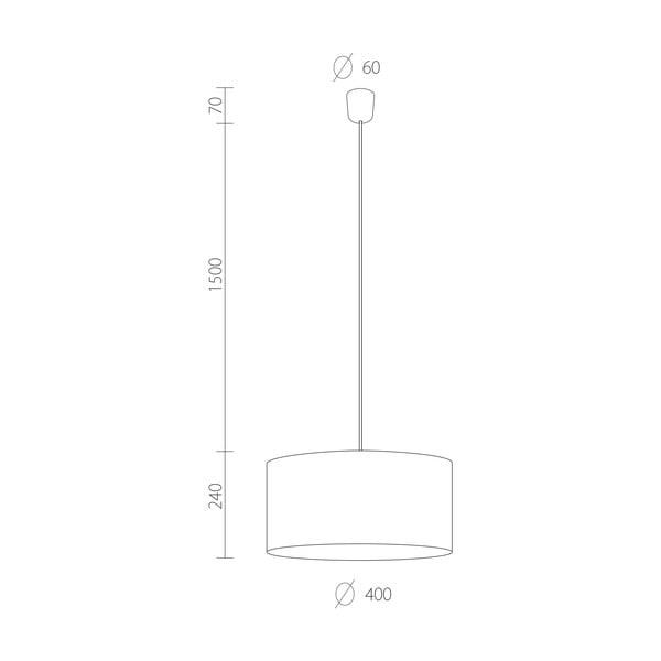 Čierno-medené závesné svietidlo Bulb Attack Tres, ⌀ 40 cm
