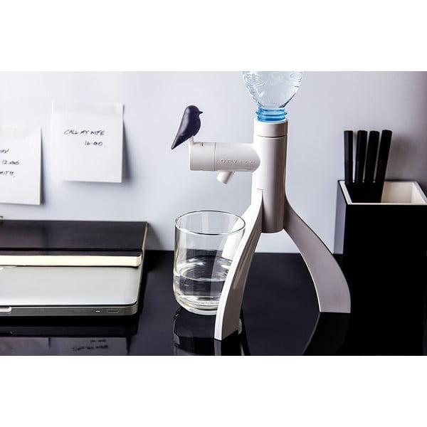 Stojan na PET fľašu QUALY Thirsty Bird, čierny