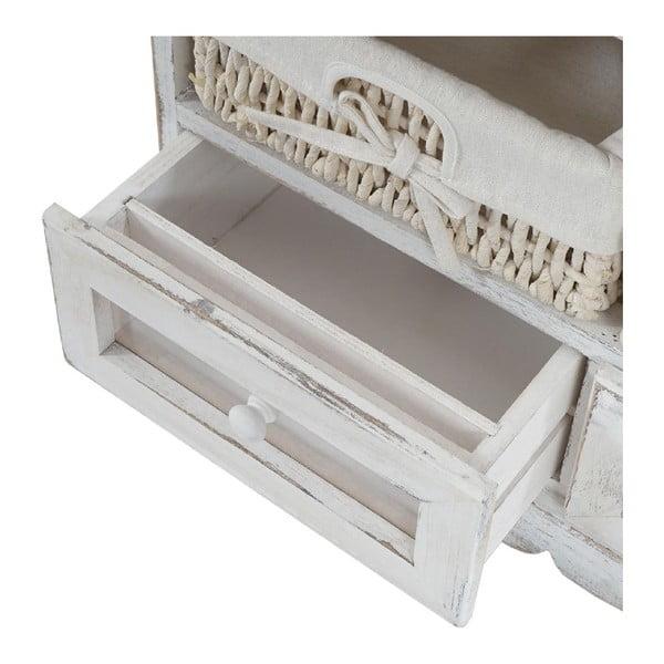Biela lavica s úložným priestorom Mendler Shabby Dia