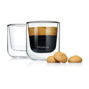 Sada 2 pohárov Blomus Nero Espresso, 80 ml