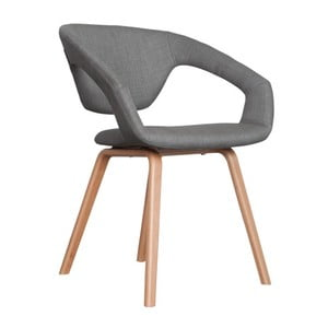 Sivá stolička Zuiver Flexback