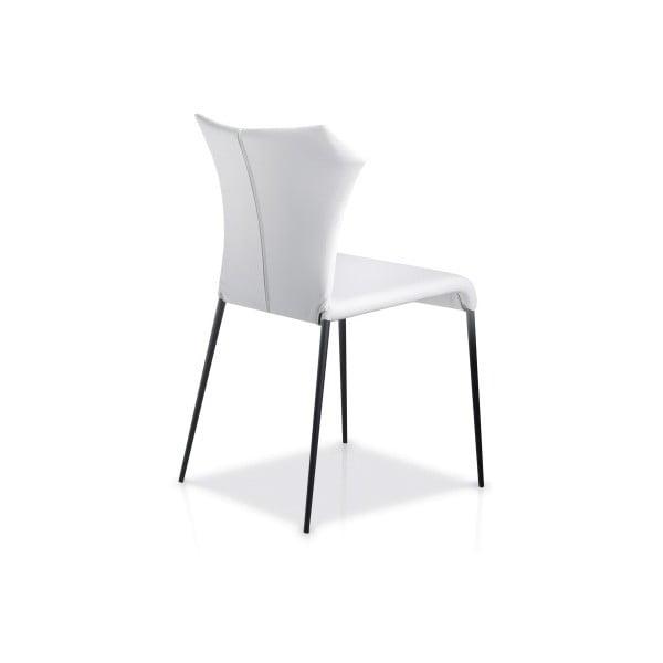 Biela jedálenská stolička Ángel Cerdá Isabel