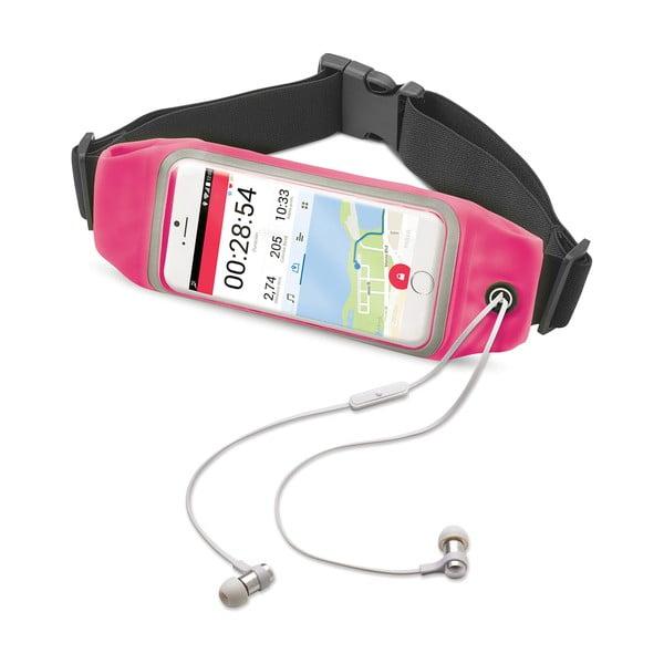 """Ružové športové neoprénové puzdro CELLY RunBelt View, pre telefóny do 5.5"""""""