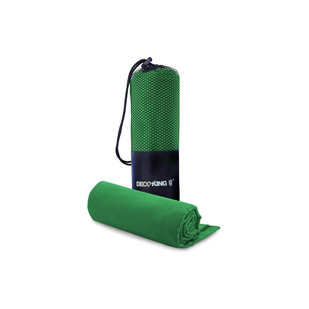 Set zelenej rýchloschnúcej osušky a uteráku DecoKing EKEA