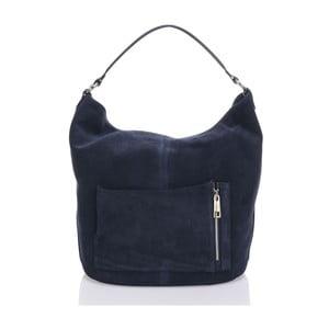 Kožená kabelka Krole Kim, modrá