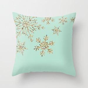 Obliečka na vankúš Snowflakes Blue, 45x45 cm