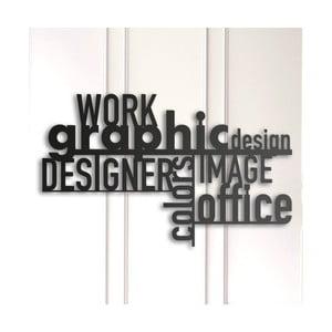 Kovová nástenná dekorácia Graphic