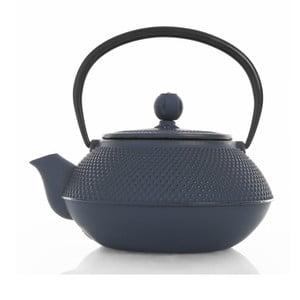 Tmavomodrá kanvička na čaj z liatiny Bambum, 800 ml