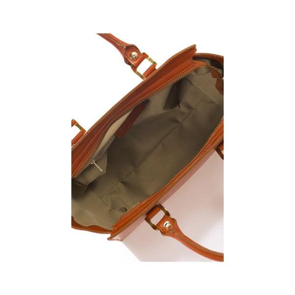 Koňakovo hnedá kožená kabelka Italia 382
