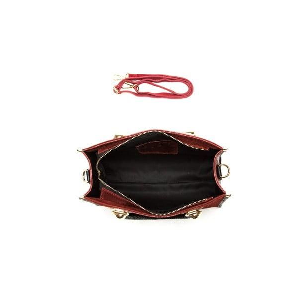 Červená kožená kabelka Sofia Cardoni Dona