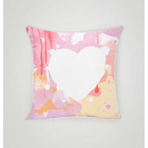 Obliečka na vankúš Pink Heart II, 45x45 cm