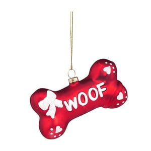 Vianočná závesná ozdoba zo skla Butlers Woof