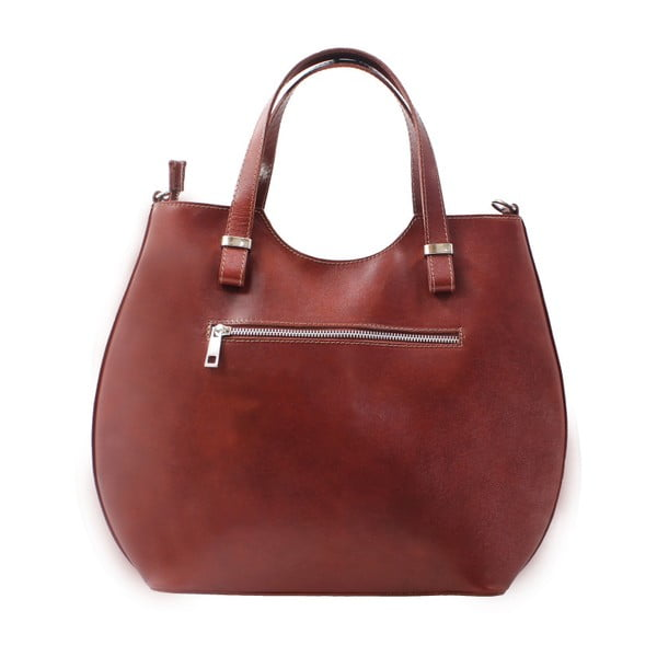 Hnedá kožená kabelka Chicca Borse Citta