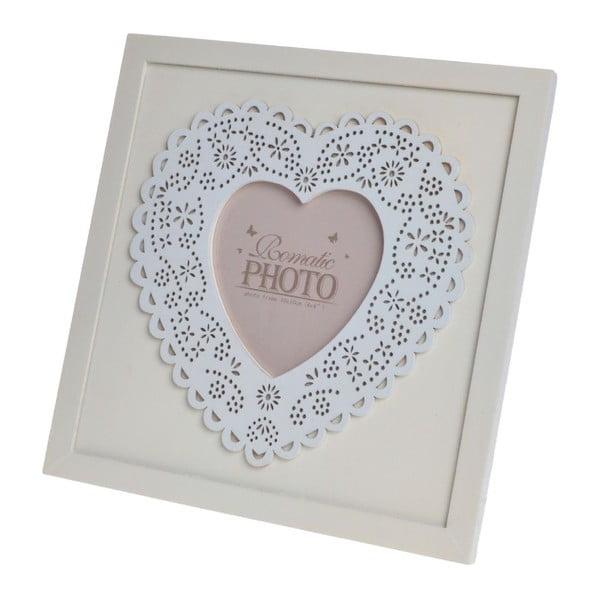 Drevený rámik Heart, 21,5x21,5 cm