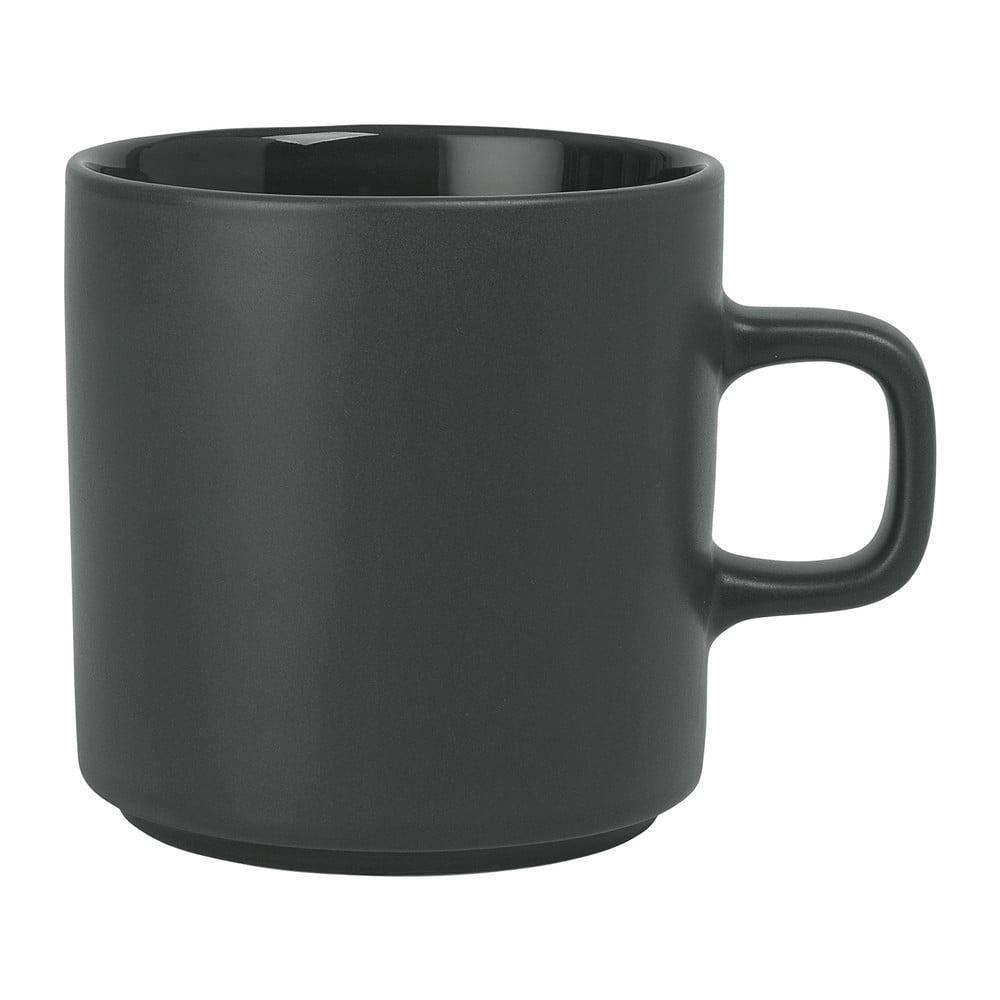 Tmavozelený keramický hrnček na čaj Blomus Pilar, 250 ml