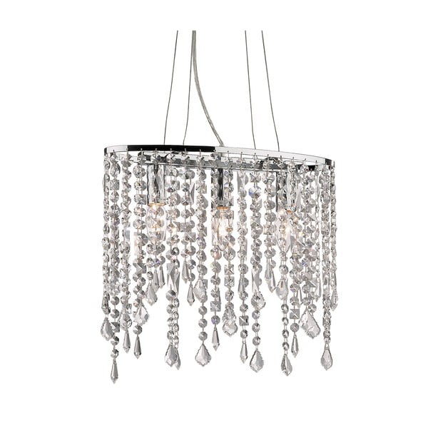 Závesné svetlo Evergreen Lights Chandelier Chrome