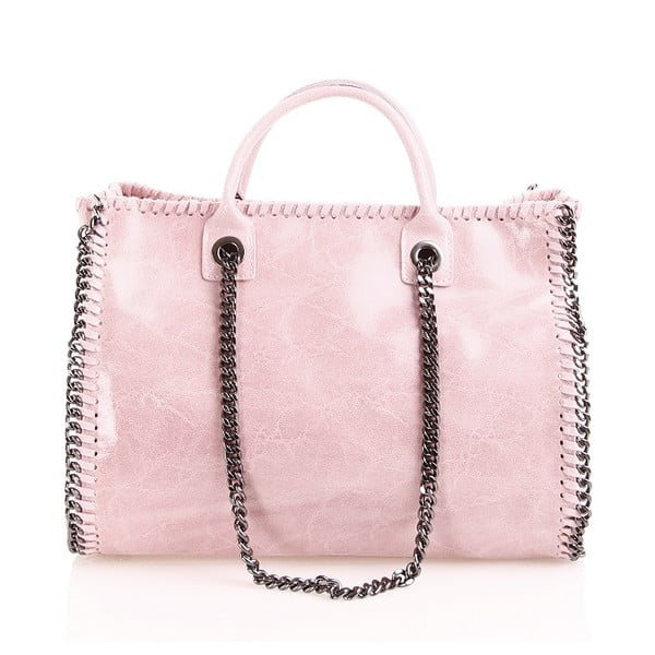 Kožená kabelka Gloria, ružová