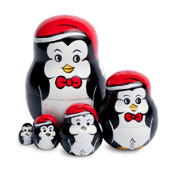 Sada 5 dekorácií Penguin